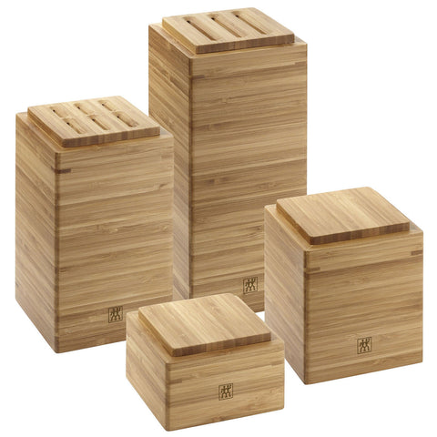 Zwilling J.A. Henckels Bamboo Storage Box, Set of 4