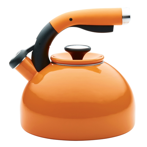 CIRCULON 2-QUART MORNING BIRD TEAKETTLE, MANDARIN ORANGE