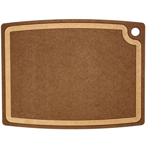 EPICURE GOURMET SERIES 19.5'' X 15'' CUTTING BOARD - NUTMEG/NATURAL