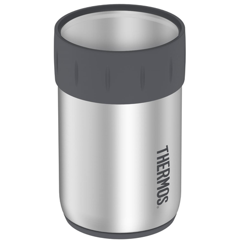 THERMOS STAINLESS STEEL BEVERAGE CAN INSULATOR FOR 12-OUNCE CAN - GUNMETAL GRAY