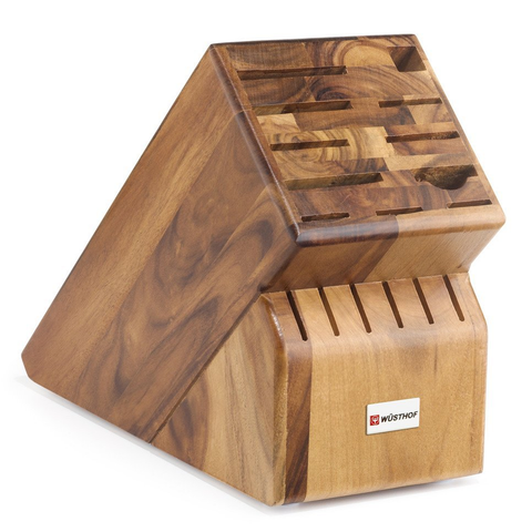 WUSTHOF 17-SLOT ACACIA KNIFE STORAGE BLOCK