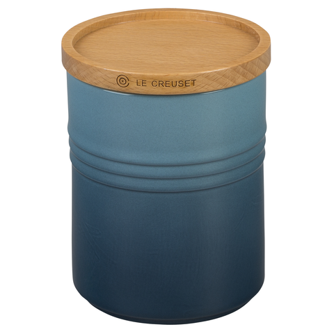 LE CREUSET 4'' LARGE STORAGE CANISTER - MARINE
