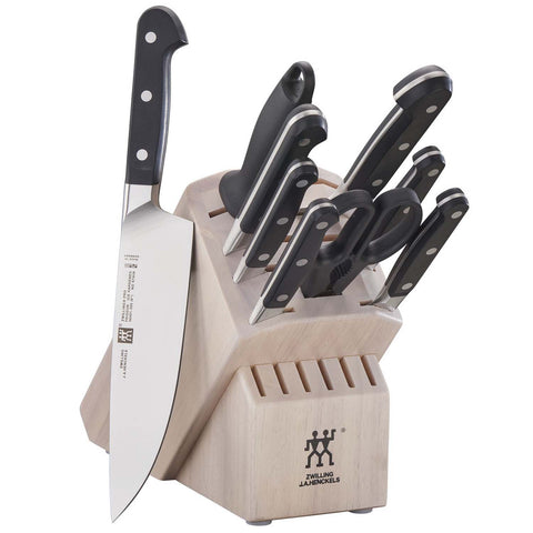 ZWILLING J.A. HENCKELS PRO 10-PIECE KNIFE BLOCK SET - WHITE