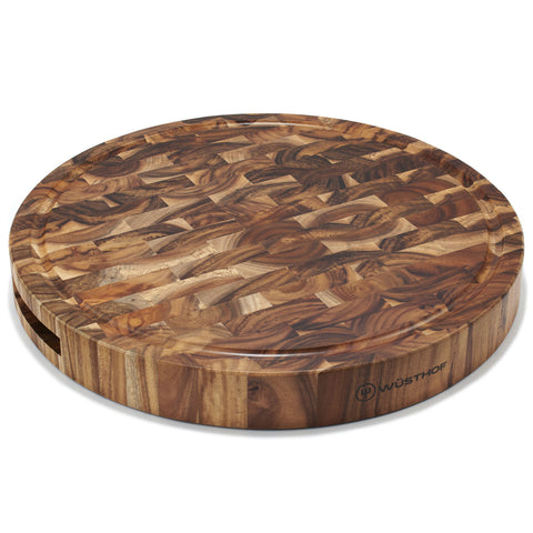 WUSTHOF ROUND ACACIA END GRAIN CHOPPING BLOCK