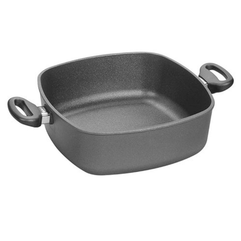 Woll Nowo Titanium Square Casserole Pan with Side Handles and Lid,  4-1/2-Quart