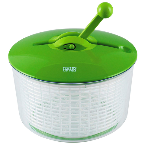 KUHN RIKON RATCHET SALAD SPINNER - GREEN