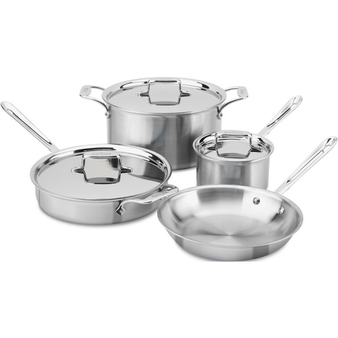 ALL-CLAD D5 BRUSHED STAINLESS 7-PIECE SET