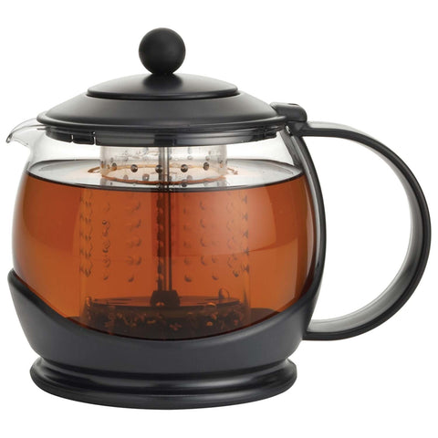 BONJOUR 42-OUNCE PROSPERITY TEA POT - BLACK