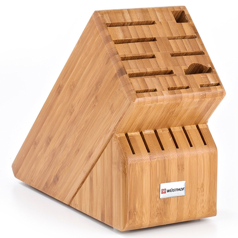 WUSTHOF 17-SLOT BAMBOO STORAGE BLOCK