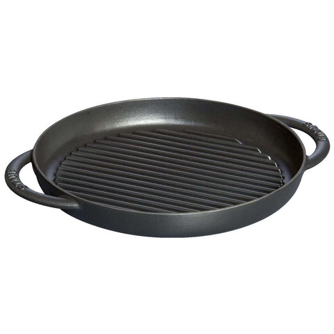 Staub Cast Iron 10'' Pure Grill - Matte Black