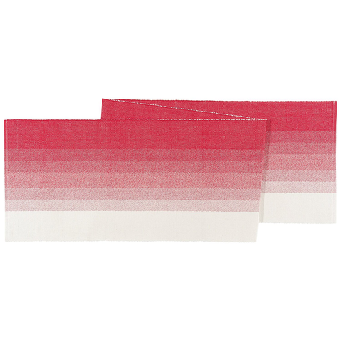 NOW DESIGNS OMBRE TABLE RUNNER - POPPY