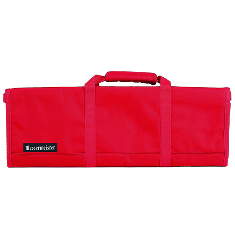 MESSERMAISTER 12-POCKET RED PADDED KNIFE ROLL - RED
