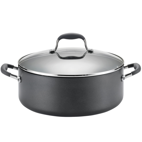 ANOLON 7.5-QUART COVERED WIDE STOCKPOT, GRAY