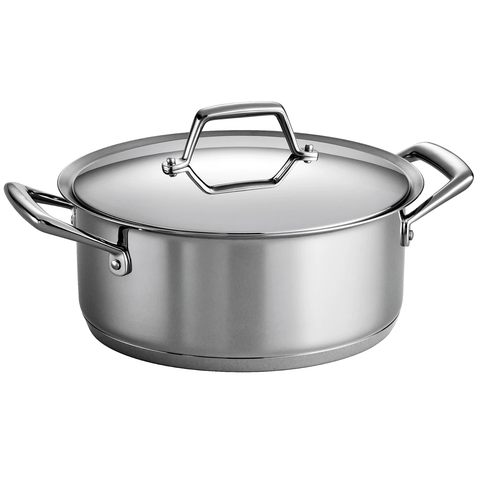 TRAMONTINA PRIMA 6-QUART COVERED SAUCE POT