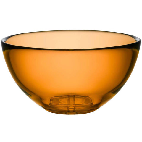Kosta Boda Bruk Serving Bowl, Amber