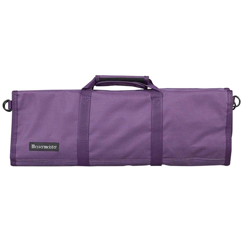 MESSERMAISTER 12-POCKET RED PADDED KNIFE ROLL - PLUM