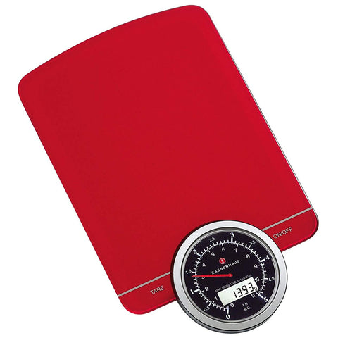 Zassenhaus Retro Kitchen Digital Scale, Red