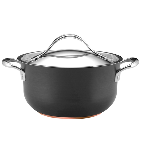 ANOLON 4-QUART COVERED CASSEROLE, GRAY