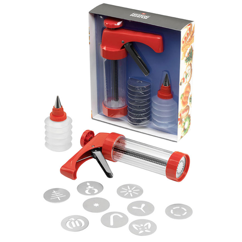 KUHN RIKON CLEAR COOKIE PRESS & DECORATING BOTTLE