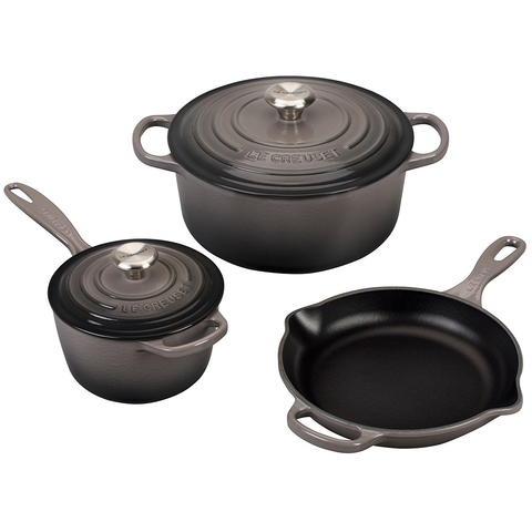 LE CREUSET 5-PIECE SIGNATURE SET - OYSTER