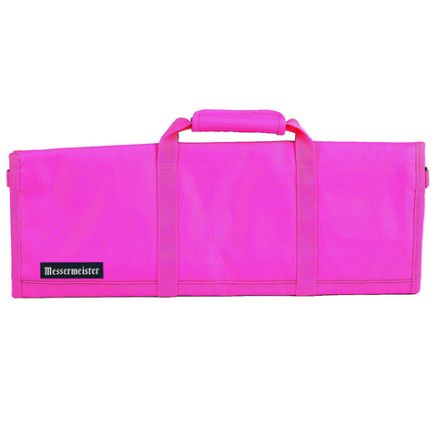 MESSERMAISTER 12-POCKET RED PADDED KNIFE ROLL - PINK