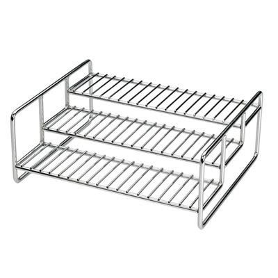 "Spice Rack - Chromed Steel (Chrome) (4.25""h x 11""w x 8.75""d)"