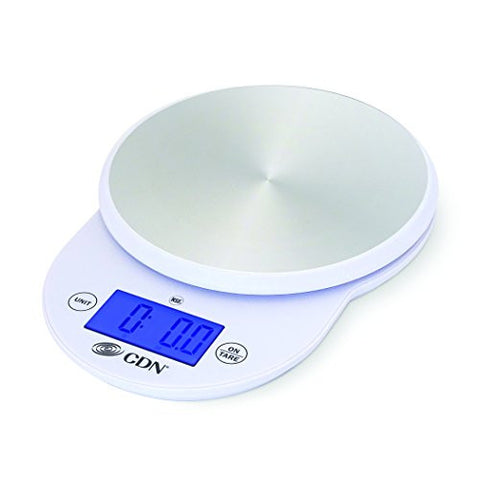 CDN SD1104-W - Digital Scale - White, 11 lb, - Kitchen Food Scale