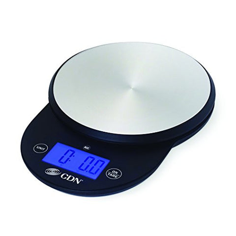 CDN SD1104-BK - Digital Scale - Black, 11 lb, - Kitchen Food Scale