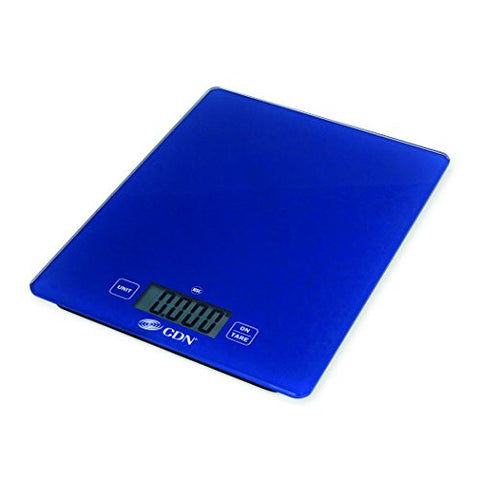 CDN SD1102-B - Digital Glass Scale - Blue, 11 lb, - Kitchen Food Scale