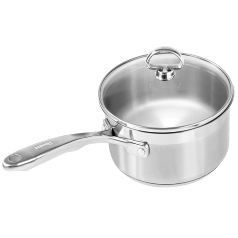CHANTAL INDUCTION 21 STEEL 2-QUART SAUCEPAN WITH GLASS LID