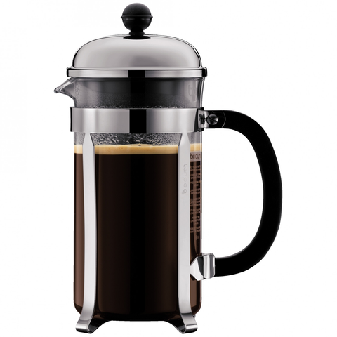 Bodum Chambord 8-Cup Shatterproof French Press, Chrome