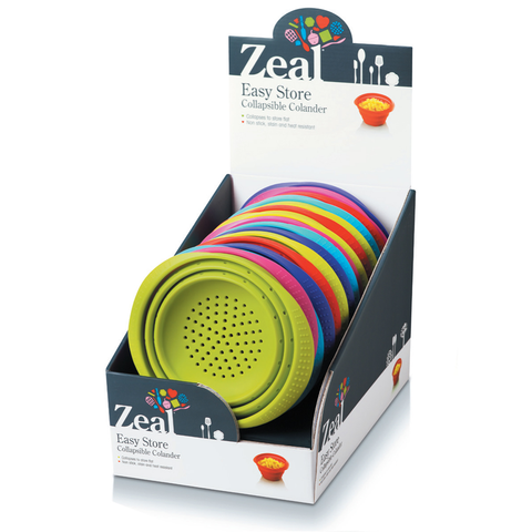 ZEAL SILICONE COLLAPSIBLE COLANDER - ASSORTED COLORS