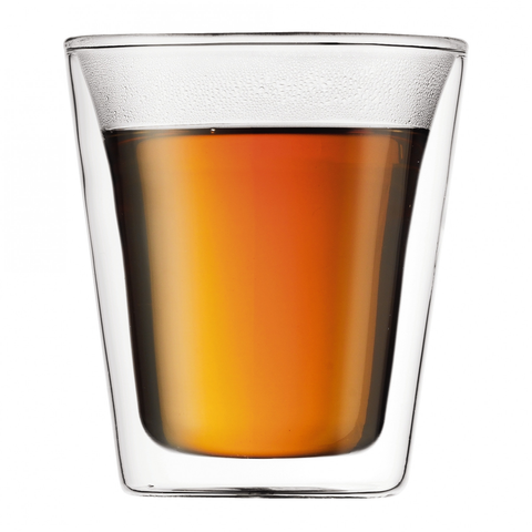 BODUM CANTEEN 6-OUNCE DOUBLE WALL GLASS, SET OF 2