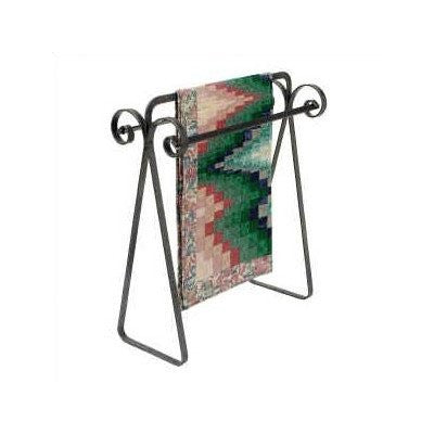 Enclume Premier Scrolled Quilt Rack, Hammered Steel