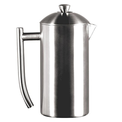 Frieling USA Double Wall Stainless Steel French Press Coffee Maker with Patented Dual Screen, Brushed, 23-Ounce