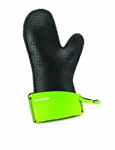 KitchenGrips Women's Fitted Single Mitt, Extendable Cuff, Lime