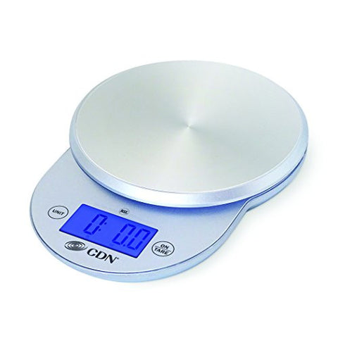 CDN SD1104-S - Digital Scale - Silver, 11 lb, - Kitchen Food Scale