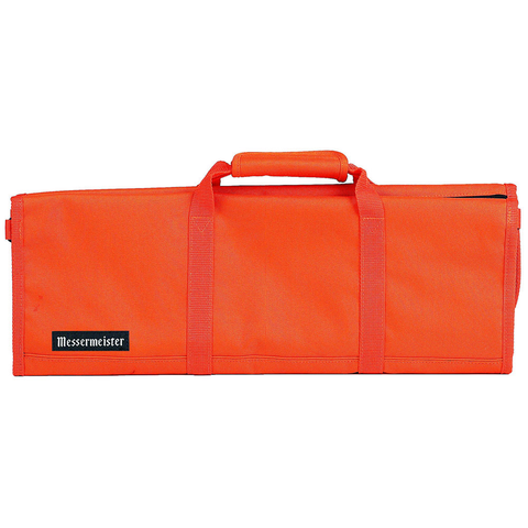 MESSERMAISTER 12-POCKET RED PADDED KNIFE ROLL - ORANGE