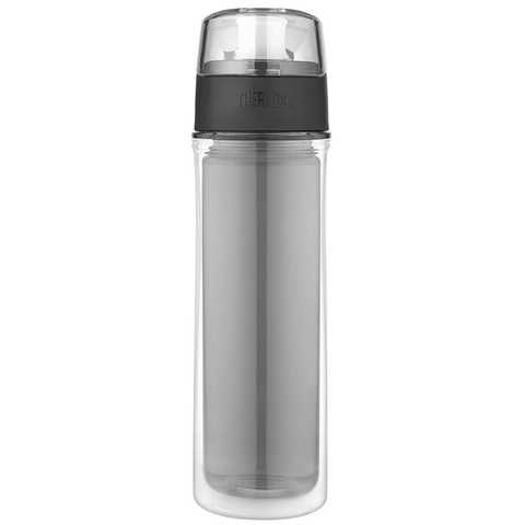 THERMOS 18-OUNCE DOUBLE WALL TRITAN HYDRATION BOTTLE - SMOKE