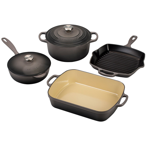 LE CREUSET 6-PIECE SIGNATURE SET - OYSTER