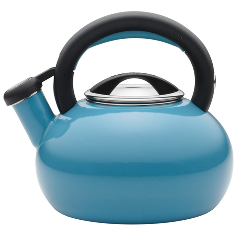 CIRCULON 2-QUART SUNRISE TEAKETTLE, TURQUOISE