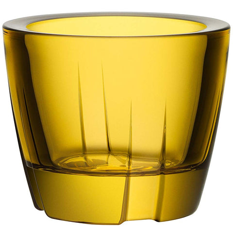 Kosta Boda Bruk Votive/Anything Bowl, Bright Yellow