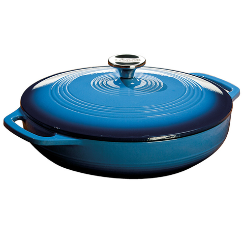 LODGE 3-QAURT DUTCH OVEN, BLUE