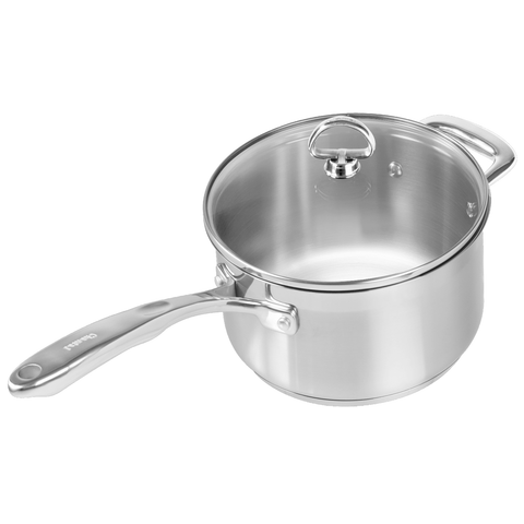 CHANTAL INDUCTION 21 STEEL 3.5-QUART SAUCEPAN WITH GLASS LID
