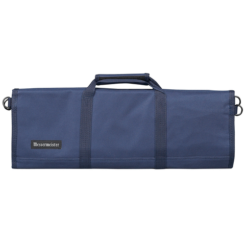 MESSERMAISTER 12-POCKET RED PADDED KNIFE ROLL - NAVY