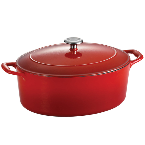 TRAMONTINA ENAMELED CAST IRON 7-QUART OVAL DUTCH OVEN