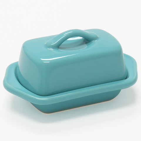 CHANTAL COUNTERTOP 5'' MINI BUTTER DISH - AQUA