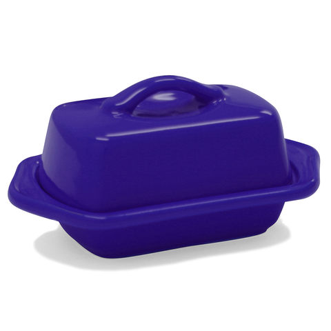 CHANTAL COUNTERTOP 5'' MINI BUTTER DISH - INDIGO BLUE