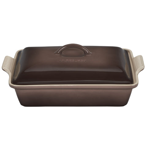 Le Creuset Heritrage Covered 4-Quart Rectangular Casserole - Truffle