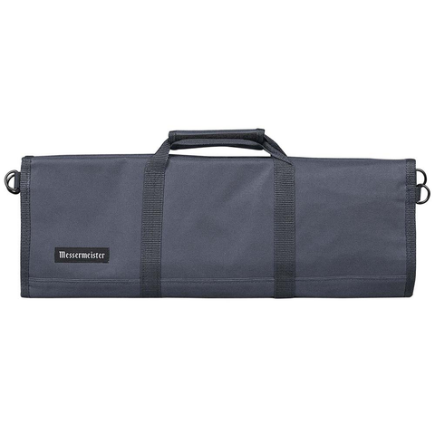 MESSERMAISTER 12-POCKET RED PADDED KNIFE ROLL - GRAY